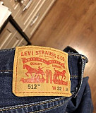 Джинсы Levi's 512 slim dark blue Реутов